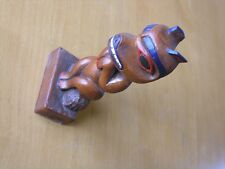Vintage NWC Small Totem Pole Made in Alaska By Raven Bear Resin Mold Glazed Wood