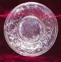 Westmoreland Eagle Cup Plate Clear Early American Pressed Glass AS IS CONDITION