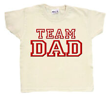 "Dirty Fingers Divertido Infantil camiseta Niño Niña Top ""Equipo papá"" Papi Padre"