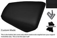 BLACK STITCH CUSTOM FITS HONDA CBR 125 04-10 REAR PASSENGER LEATHER SEAT COVER