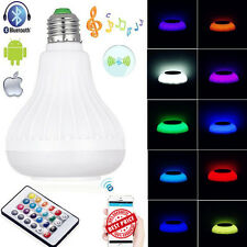 E27 Bluetooth Control Smart Music Audio Speaker LED RGB Color Bulb Light Lamp