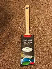 SHUR-LINE Wood Handle 2.5-in Angle Sash Polyester and Nylon Blend Paint Brush