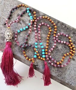 Seas and Breeze Buddha beaded beads necklace for women