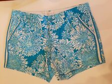 Lilly Pulitzer Callahan Shorts Ariel Blue Lion In The Sun 8 Turquoise White 5 In
