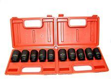 """10PC 1/2"""" DR FRONT & BACK WHEEL DRIVE  AXLE DEEP IMPACT SOCKET SET MM AND SAE"""