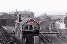 PHOTO  BISHOP AUCKLAND STATION AND SIGNALBOX