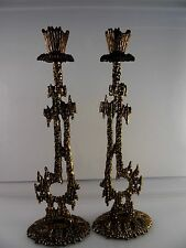 Wainberg Cast Brass Candle Holders Brass Made in Israel