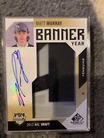 2016-17 Upper Deck SP Game Used Banner Year Draft 2012 Matt Murray #BD12-MM Auto