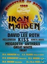 """MONSTER OF ROCK IRON MAIDEN 1988 EUROPE TOUR ROCK METAL MUSIC BAND 24""""x36"""" NEW"""