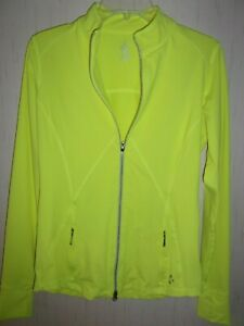 Athletic, Yellow Long Sleeve Jacket by JOFIT for Woman. Size M.