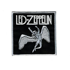 Led Zeppelin 8.5cm x 8cm Logo Sew Ironed On Badge Embroidery Applique Patch
