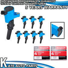 DG508 Blue Ignition Coils + MOTORCRAFT SP479 Spark Plugs For Ford E350 6.8L 5.4L