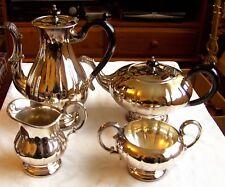 """Marlboro Silver Plate E.P. Copper Tea Set """"Old English"""" Reproduction c.1960"""