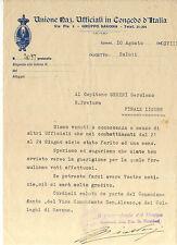 1940 UNIONE UFFICIALI IN CONGEDO FIRMA DI Gen.D. Ottavio Ricaldoni SAVONA C6-191