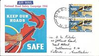 NZFD783  New zealand road safety     cover   1964   FDC $4.00