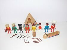 Vintage 1970s Playmobil Western Cowboys and Indians Lot