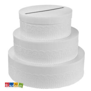 Gift Box Wedding Cake 27 x 30 Porta Buste Wedding Card Regali Matrimonio Bianco