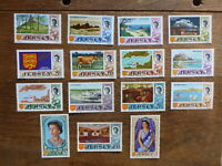 JERSEY 1969 SET OF 15 DEFINITIVE MINT STAMPS