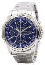 Seiko Solar Chronograph Alarm SSC141 SSC141P1 SSC141P Men's Watch
