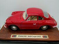 Durago, Porsche 356 B (1961) Red, Wood plinth with box. 1/18 scale V.G.C.