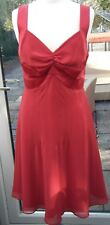 DEFINITIONS RED EVENING DRESS, SIZE 14. VAMP