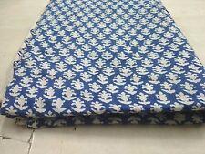 hand block print Fabric cotton fabric Blue Color Dress Making 2.5 Yard DFGCVB11