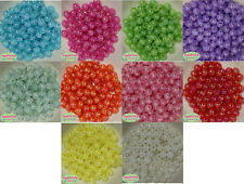 12mm Mixed Color Acrylic Crackle Style Bubblegum Beads Lot 100 pc gumball