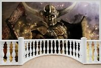 Huge 3D Balcony Fantasy Warriors Wall Stickers Mural Wallpaper 1010