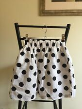 Smokey Salon Linen White and Black Polka Dot skirt Fantastic Condition Size 6-8