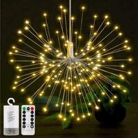 120 LED Feuerwerk Lichterkette Weihnachts Beleuchtung Außen Garten Party Deko