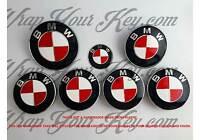 Blanco y Rojo M SPORT Emblema Insignia Revestido para BMW Capucha Baúl Llantas @