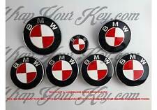 Blanc & rouge m sport bmw badge emblème overlay hood trunk jantes s'adapte à toutes les bmw xdrive