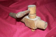 Old Wooden Barrel Spigot Wood Valve Faucet Vintage Beer Ale Bar Antique Keg