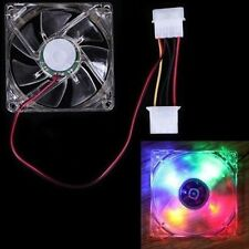 80mm 4 Pin Cooling Fan 4 LED Multi Color for Computer PC Case Cooler Rainbow