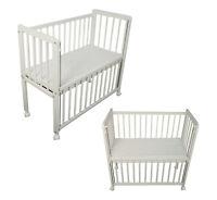 Beistellbett Babybett 90x40 Schaum Matratze höhenverstellbar Räder weiß