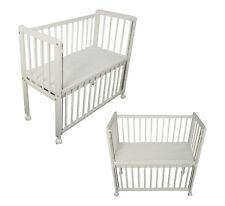 Beistellbett Babybett 90x40 Steppung Matratze höhenverstellbar Räder weiß