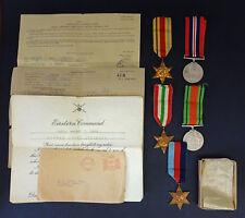 WW2 5 Medal Group, Paperwork for Sgt T. Morris, Durham Light Infantry