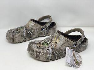 Crocs Realtree Edge Lined Clog Sandal, Size 12 NWT