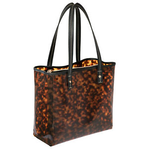 Stephanie Johnson Miami Piper Tote in Clearly Tortoise