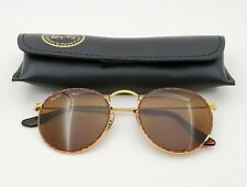 Vintage B&L Ray Ban Bausch & Lomb B15 Rounds W2181 Sunglasses w/Case