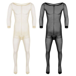 Men's Full Body Ultra-thin Pantyhose Lingerie Stockings Underwear Penis Sheath