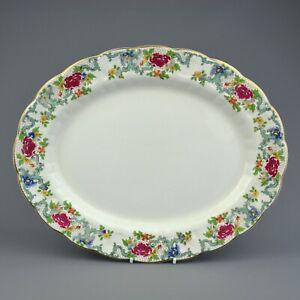 Booths Floradora Large Oval Platter - 35.5 cm