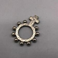Vintage Pocket Prayer Rosary Ring Medallion