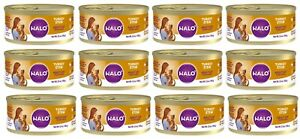 HALO Turkey Stew Grain-Free Adult Canned Wet Cat Food 5.5 Oz - 12 PACK CASE *NEW