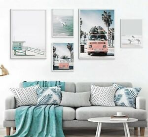 Tropical Landscape Posters Prints Sea Beach Wall Art Canvas Painting Pictures