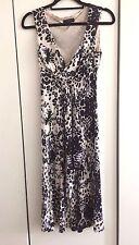 Jasper Conran-Patterned Stretch Dress in Mixed Cream/Black/Grey/Size: UK 10/Used