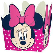 DISNEY MINNIE MOUSE TREAT BOX PARTY FAVOUR LOLLY LOOT BAGS 8pk GIRLS BIRTHDAY
