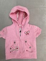 Baby Girl Gap Pink Hoodie Jacket  Size 0-3 Month With Flowers