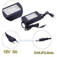 EU-Stecker Netzteil Netzadapter AC100-240V auf/zu DC15V 3A Adapter 5.5mm X 2.5mm