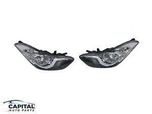Pair Set of Headlamps Suits Hyundai Elantra Md 2011-2013
